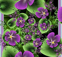 Violets by CydMiller