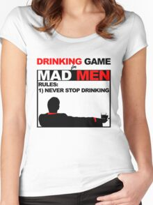 Drinking Game... for Mad Men Women's Fitted Scoop T-Shirt