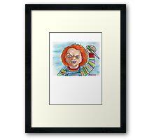 Hi, I'm Chucky. Wanna play? Framed Print