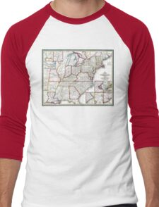 United States - Mitchell's Travellers guide - 1835 Men's Baseball ¾ T-Shirt