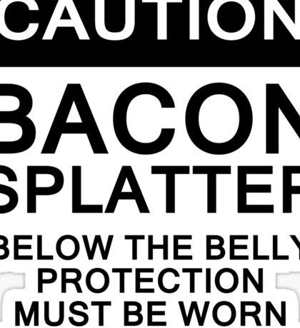 Bacon Splatter Warning Sticker
