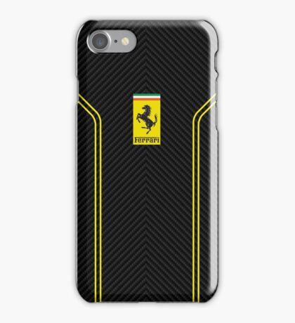 Ferrari carbon case  iPhone Case/Skin