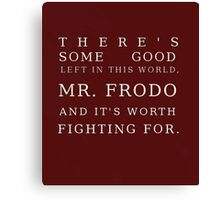 Mr FRODO Canvas Print