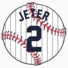 Derek Jeter Baseball Design by canossagraphics