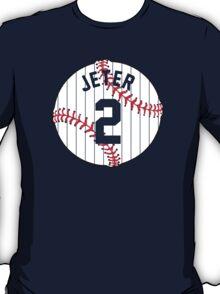 Derek Jeter Baseball Design T-Shirt