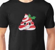 Funny Holly Poop Emoji Striped Candy Cane Christmas T-Shirt  Unisex T-Shirt