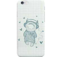 Illustration with monster and headphones iPhone Case/Skin