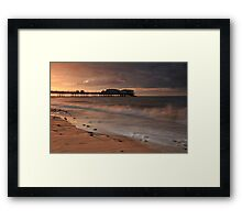 The sighing sea Framed Print