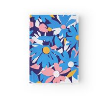 Blue Retro Daisies  Hardcover Journal