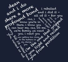 Quotes of the Heart - Destiel (White) by fairy911911