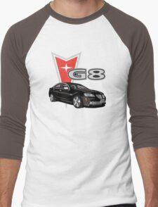 G8 Black Men's Baseball ¾ T-Shirt