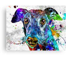 Greyhound Grunge Canvas Print