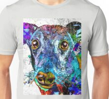 Greyhound Grunge Unisex T-Shirt