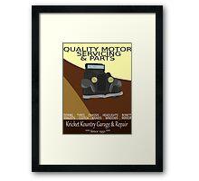 KRICKET KOUNTRY Garage & Repair....Since 1951! Framed Print