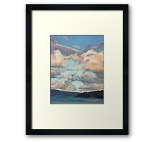 Pastel Clouds - Balmoral NSW Framed Print