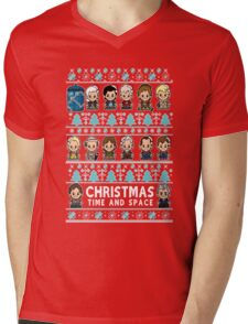lil Doctor Who Christmas Jumper Mens V-Neck T-Shirt