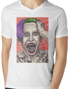 Fan art of Jared Leto as The Joker Mens V-Neck T-Shirt