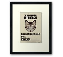 Orwellian Cat Has Some ISSUES Framed Print