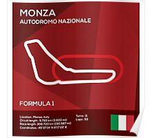 Monza racetrack Poster