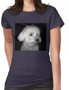 White Puppy Womens Fitted T-Shirt