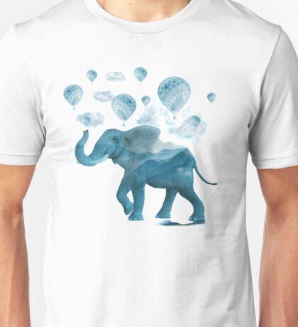 Magical Blue Elephant Unisex T-Shirt
