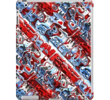 Red White And Blue Abstract iPad Case/Skin