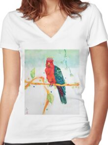 The Parrot King Women's Fitted V-Neck T-Shirt