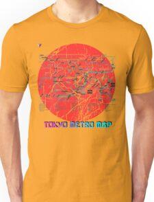 Tokyo Metro Map Japanese City Urban Style T-Shirt by Cyrca Originals Unisex T-Shirt