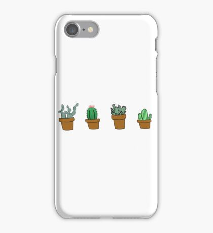 cactus hipster drawing iPhone Case/Skin