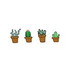 cactus hipster drawing by youtuber-club