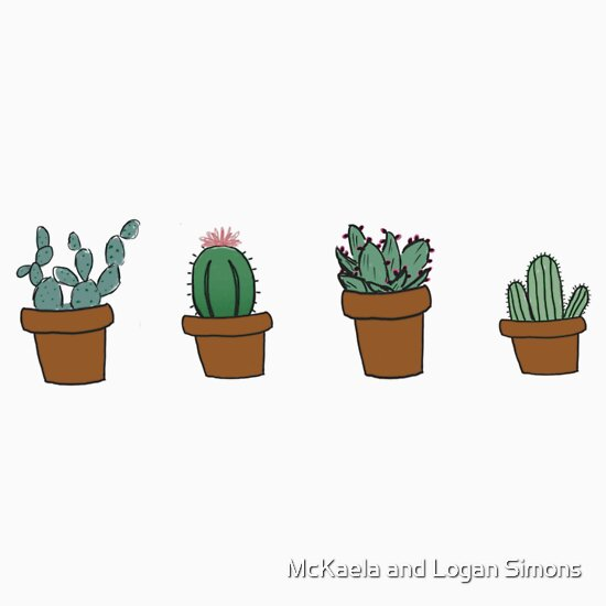 Quot Cactus Hipster Drawing Quot Stickers By Youtuber Club Redbubble