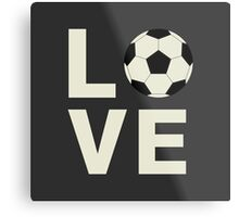 Love Soccer Metal Print