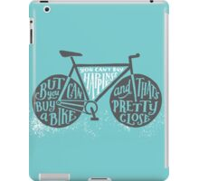 You Can't Buy Happiness (Teal) iPad Case/Skin