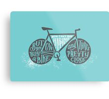 You Can't Buy Happiness (Teal) Metal Print