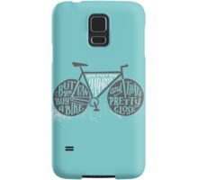 You Can't Buy Happiness (Teal) Samsung Galaxy Case/Skin