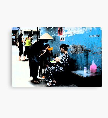 Ho Chi Minh City. Backstreet Life Canvas Print