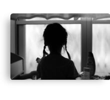 pigtails and memories Canvas Print