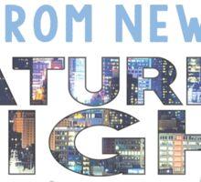 Saturday Night Live (SNL) Skyline Print Sticker