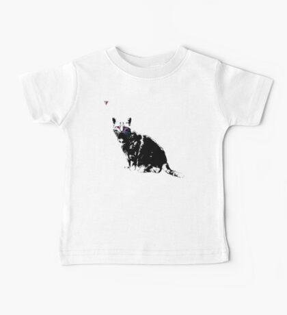 Black Cat for Kitten Cat Lovers Artwork T-Shirt by Cyrca Originals Baby Tee