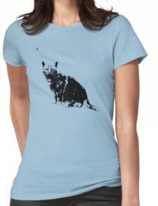 Black Cat for Kitten Cat Lovers Artwork T-Shirt by Cyrca Originals Womens Fitted T-Shirt
