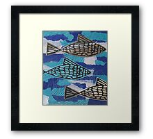 Fish Collage Framed Print