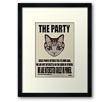 Orwellian Cat Is Not Interested Framed Print