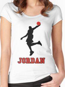 Michael Jordan BasketBall Women's Fitted Scoop T-Shirt