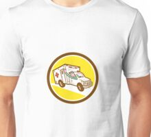 Ambulance Emergency Vehicle Cartoon Unisex T-Shirt