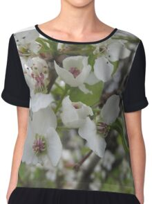 Callery pear flower close up Chiffon Top
