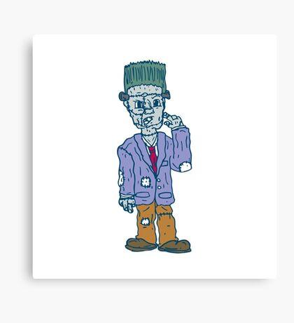 Frankenstein Monster Standing Cartoon Canvas Print