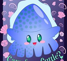 Blue Chibi Cuttlefish by gamerkats