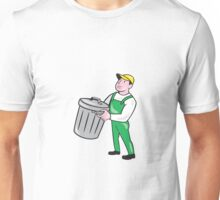 Garbage Collector Carrying Bin Cartoon Unisex T-Shirt