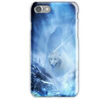 Jon Snow and Ghost - Game of thrones - Winter is here iPhone Case/Skin