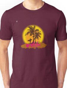 Hawaii Island Palm Tree Sunset Aloha Holidays T-Shirt  Unisex T-Shirt